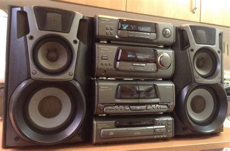 mini hi fi systems with cassette deck technics eh600 mini hi fi system 5 cd fm cassette aux