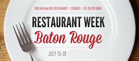 Restaurant Week Open Table by On Our Plate Restaurant Weeks From Baton To The Big