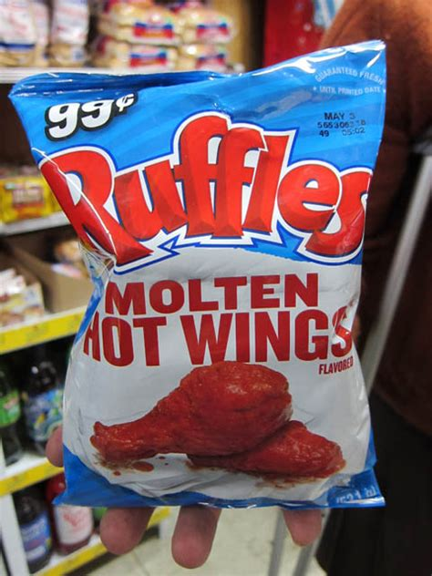 hot chips event ruffles molten hot wings flavored chips me so hungry
