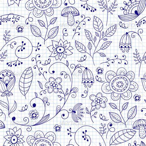 doodle pattern illustrator vector seamless floral summer doodle pattern by