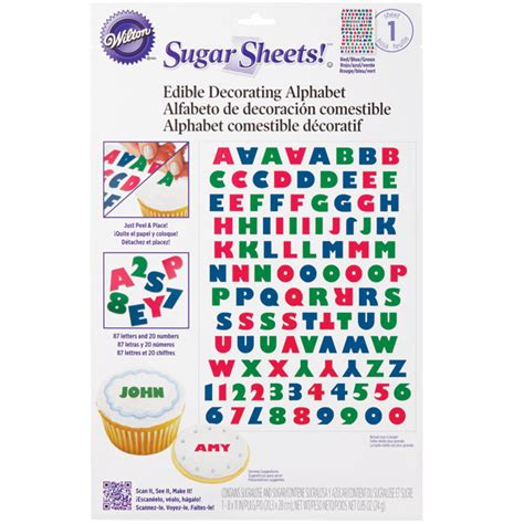 How To Make Sugar Sheets Edible Decorating Paper - wilton alphabet sugar sheets edible decorating paper