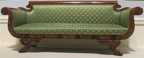 Dayton Upholstery file american empire style sofa c 1820 30 wood