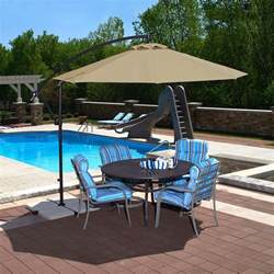 Cantilever Patio Umbrellas Island Umbrella Santiago 10 Ft Octagonal Cantilever Patio Umbrella In Beige Sunbrella Acrylic