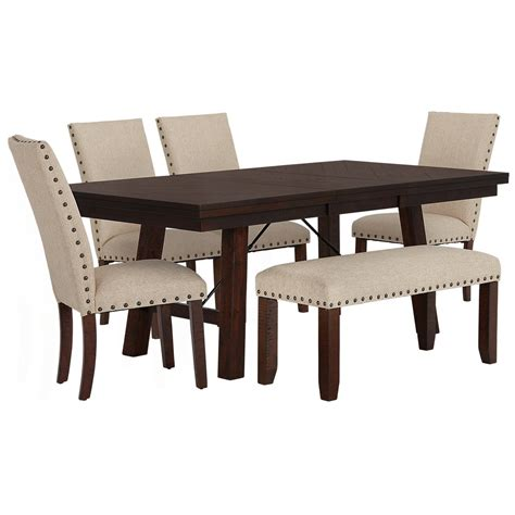 table with 4 chairs and a bench city furniture jax beige rectangular table 4 chairs bench