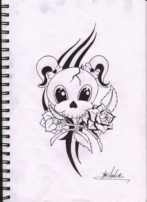 cute girly skull tattoos designs project skull by madjambi on deviantart