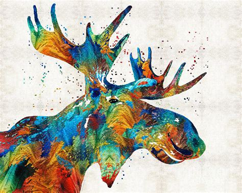colorful painting colorful moose confetti by painting by