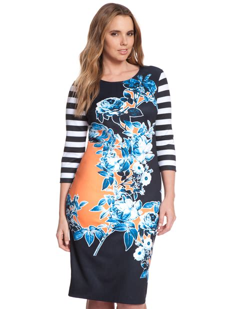 Sale Blouse Import 20119 Printed Mix mixed print dress s plus size dresses eloquii