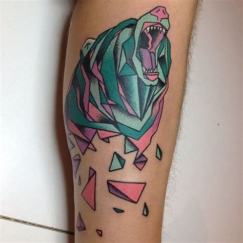 geometric bear tattoo geometric bear tattoo let s get tattoos pinterest