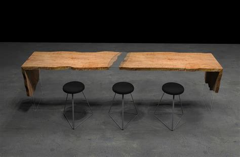 Communal dining tables by live edge design