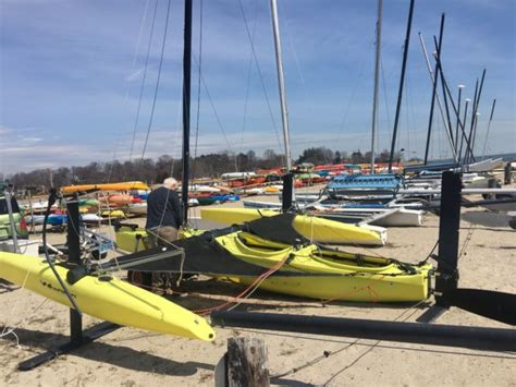 used boat trailers in ct windrider rave trimaran hydrofoil sailboat w trailer and