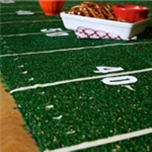 football field astroturf centerpiece party decorating