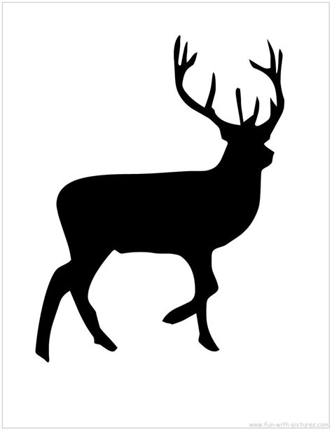 printable jungle animal silhouettes reindeer silhouette free printable diy projects print