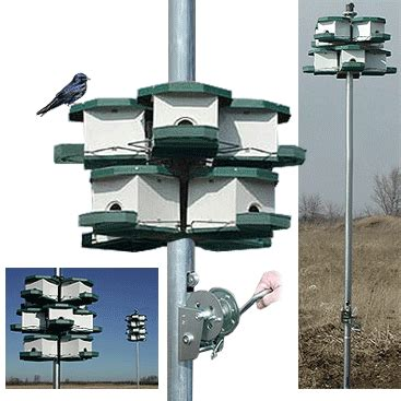 heritage farms quality aluminum purple martin house with