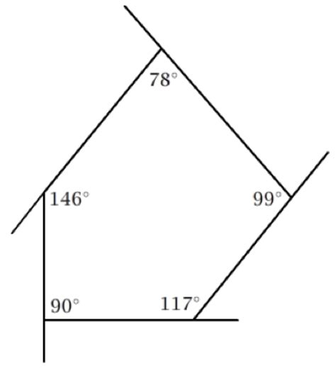 Sum Of Interior Angles Of An Irregular Polygon by Gallery For Gt Convex Pentagon With Angles