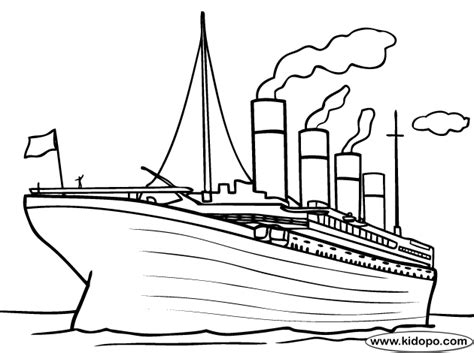 titanic for kids coloring pages