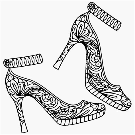 high coloring page high heel shoes coloring page color me app shoes
