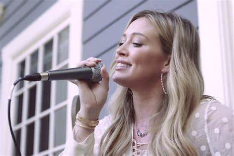 Tattoo Ed Sheeran Hilary Duff | video hilary duff plays beautiful acoustic version of ed