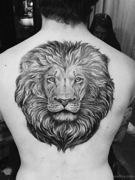 lion tattoo on back animals tattoos designs pictures page 32