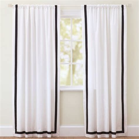 white drapes with black trim window black trim and white curtains on pinterest