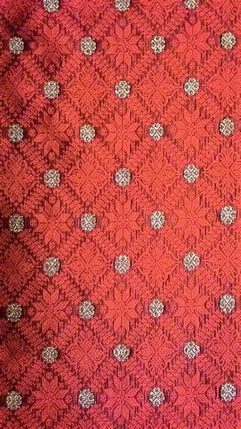 wallpaper motif bintang jual songket motif bintang berante merah rakam palembang