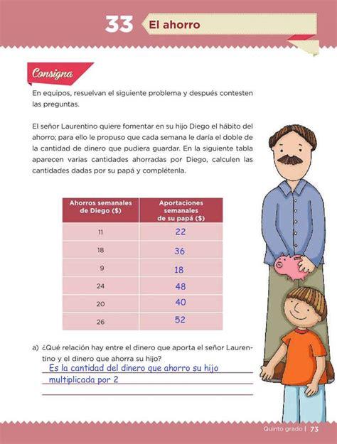 el libro de desafios matematicos de quinto grado contestado el ahorro desaf 237 o 33 desaf 237 os matem 225 ticos quinto grado