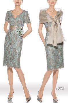 Dress Midi Brukat Brokat Lace Combi Spandek Blue Pesta Formal modelo 30 391 cn yo lo prefiero el tocado alg 250 n evento engel v 246 lkers
