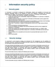information security policy template template design