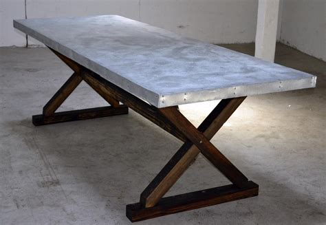 buy a crafted zinc trestle table made to order from