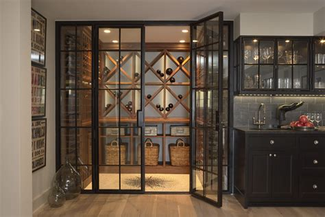 Home Design: Wine Cellar Doors And Light Wood Floors Also