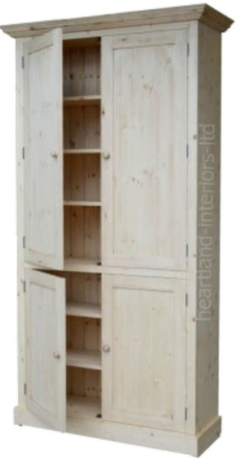 Kitchen Larder Cupboard Storage Solid Pine Cupboard 7ft Handcrafted Larder Pantry
