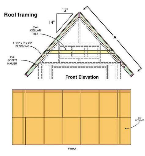 gable shed plans blueprints  making  large storage shed