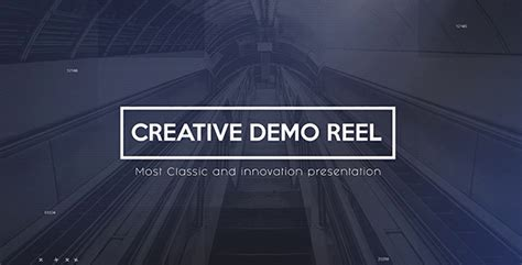 after effects demo reel tutorial creative demo reel corporate after effects templates