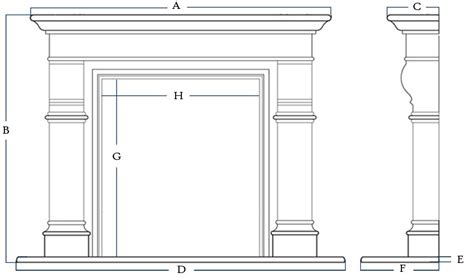 Fireplace Mantle Height by Quote Fireplace Mantel Marble Cast Limestone