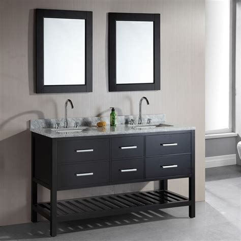 design elements bathroom vanity design element london 61 inch double sink espresso