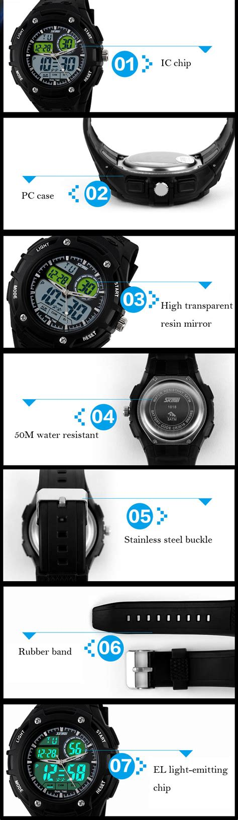 Skmei Blue Movt Sport Water Resistant 50m Ad0910 1 skmei 1018 sports led movt 50m water
