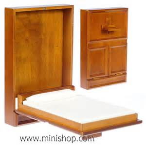 Murphy Bed S Furniture Dollhouse Murphy Bed Miniature Furniture