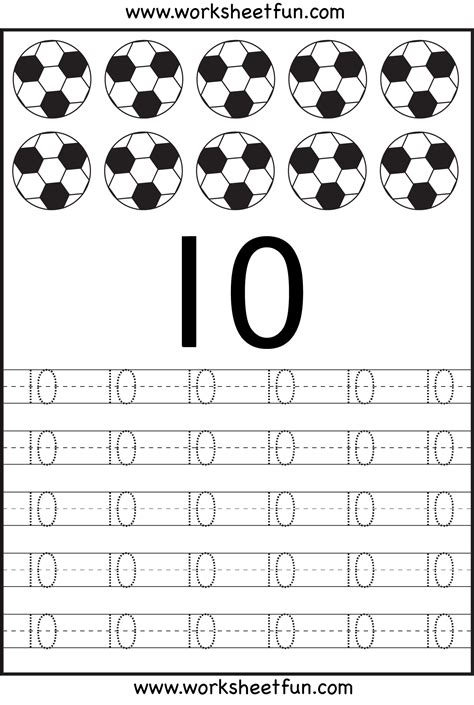 free printable tracing numbers 1 10 worksheets number tracing worksheets for kindergarten 1 10 ten