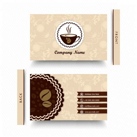 Http Www Freepik Free Vector Coffee Business Card Template 1105489 Htm by Floral Business Card For Coffee Shop Vector Premium