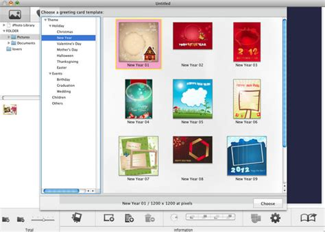 card photo templates free mac snowfox greeting card maker for mac to make your