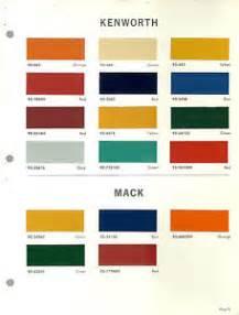 1967 kenworth mack truck color chip paint sample brochure