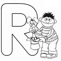 kidscolouringpages orgprint letter r sesame