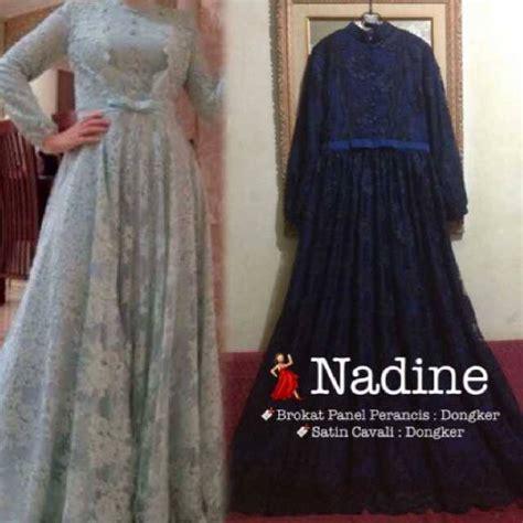 Gamis Set Syar I Shakina Silver Ori dress renda by aida design www outletbusanamuslim