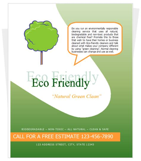 templates for cleaning flyers green cleaning flyer flyers pinterest green cleaning