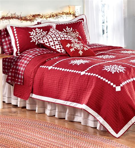 crystal snowflake cotton full queen quilt collection
