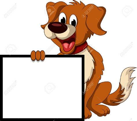 clipart cani holding sign clipart 17