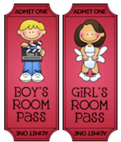 boys bathroom pass hollywood classroom pack from thistlegirl designs
