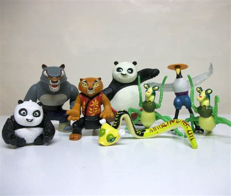 Kung Souvenir Setelan Kulot Smoke kung fu panda lot of 8 toys po mcdonalds happy meal dreamworks 2008