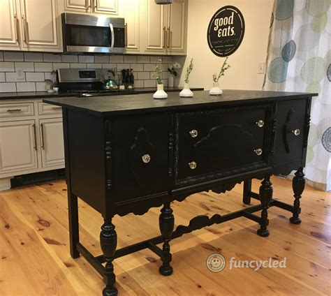 repurposed antique buffet into kitchen island tuesday s