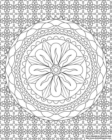 flower mandala coloring pages don t eat the paste mandalas coloring pages