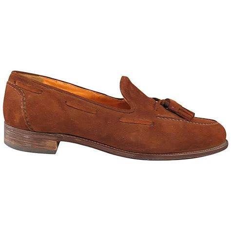 vintage tassel loafers vintage ralph size 10 brown suede tassel loafers at